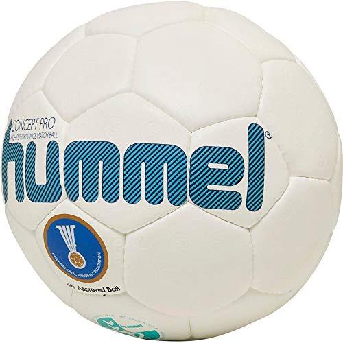 Hummel HMLCONCEPT PRO-Handball Sport, Weiß/Türkis, 3
