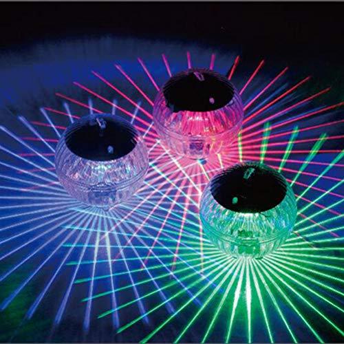 Uonlytech Solar Schwimmendes Licht, Farbwechsel Magic Ball Solar Teich Licht, Solar Pool Licht (2 Stück, buntes Licht)