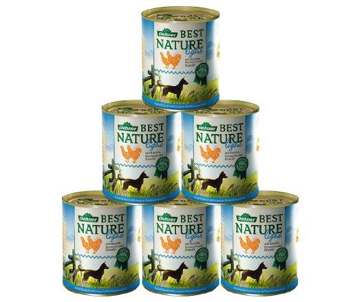 Dehner Best Nature Hundefutter Light, Huhn und Karotte mit Distelöl, 6 x 800 g (4.8 kg)