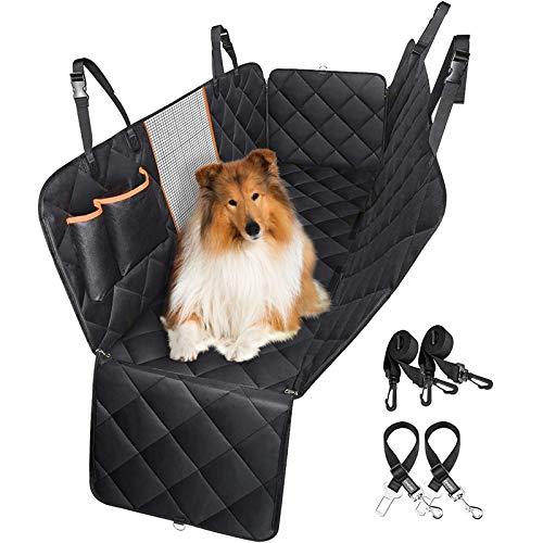 OMORC Hundedecke Autoschondecke, Hundedecke Auto, Wasserdichte/Rückbank/Rutschfeste, Mit Sicherheitsgurt Sichtfenster für Auto/Van/SUV