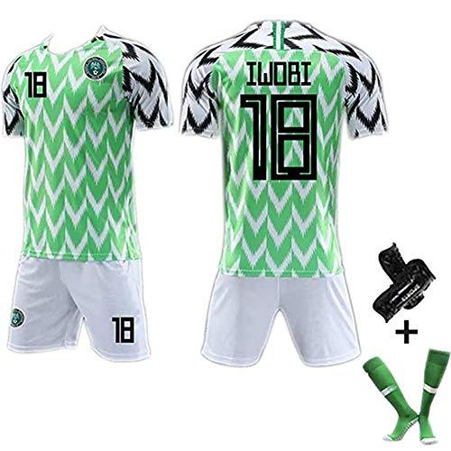 CUYE Herren Fußball Trikot Shirt # 7# 10# 18 Nigeria World Cup Jersey 2018, Bequeme Sportbekleidung Fans #18-S