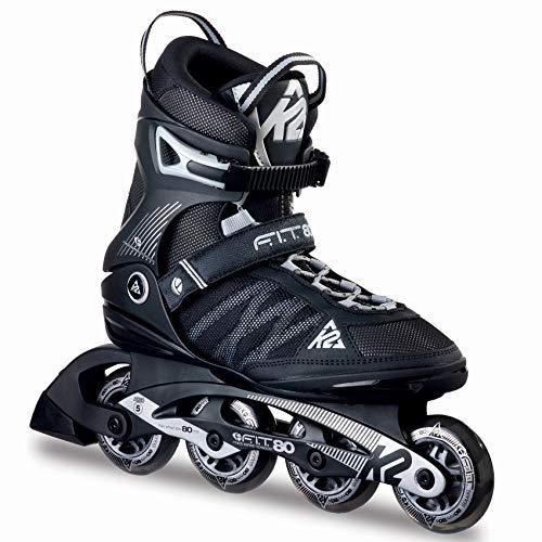 K2 Inline Skates F.I.T. 80 Für Herren Mit K2 Softboot, Black - Grey, 30A0003