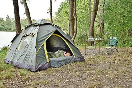 RSonic Outdoor Quickup Zelt | Leichtes Pop Up Wurfzelt | Sekundenzelt (Schnellaufbauzelt) | Kuppelzelt | Camping Zelt | mit Tragetasche | mit Moskitonetz | (für 2 bis 3 Personen)
