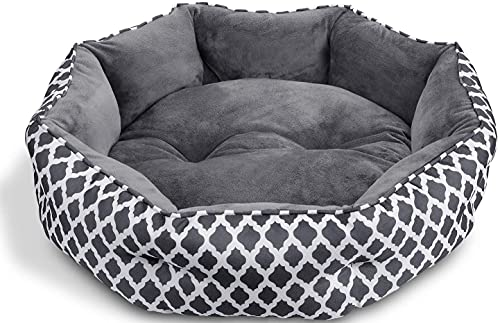 CatRomance Hundebett Katzenbett Weiches und Warmes Haustierbett, Flauschiges und Waschbares Hundesofa mit Zweiseitig Innenkissen, rutschfestes & kuscheliges Hundekissen für Katzen und kleine Hunde S