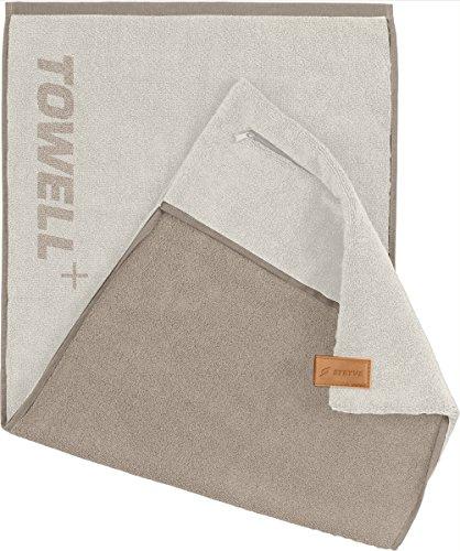 STRYVE Towell Plus V2 + Sporthandtuch mit Tasche und Magnetclip, in 7 Farben Die Höhle der Löwen (Merino Weiß) Gym Handtuch Towell+