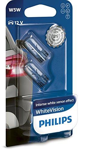 Philips WhiteVision Xenon-Effekt W5W Autolampe 12961NBVB2, Doppelblister