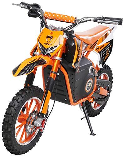 Actionbikes Motors Mini Kinder Crossbike Viper 1000 Watt - 36 Volt - Wave Scheibenbremsen - 3 Geschwindigkeitsstufen - Pocket Bike - Motorrad - Motocross - Dirtbike - Enduro (Viper 1000 Watt Orange)