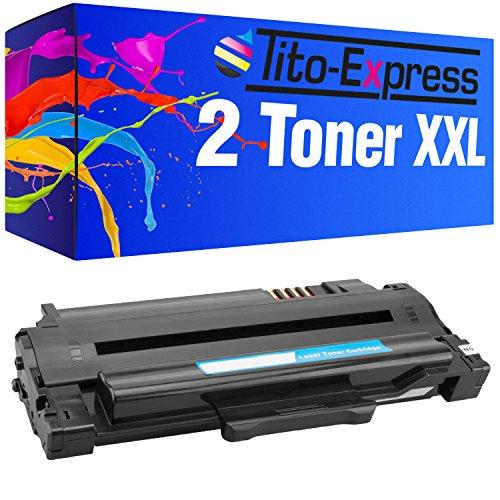 2 Toner-Patronen XL Platinum Serie – Schwarz, kompatibel zu Samsung MLT-D1052L ML-1910