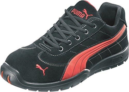 Puma Safety Shoes Silverstone Low S1P HRO SRC, Puma 642630-210-40 Herren Sicherheitsschuhe, Schwarz (schwarz/rot 210), EU 40