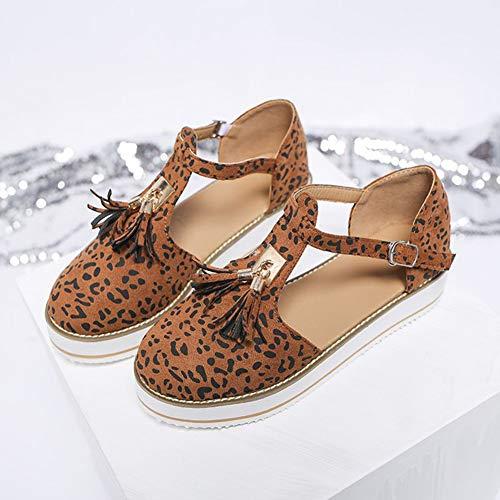 LQLD Damen Übergröße Römische Sandalen Weiche rutschfeste Flip Flop Schuhe mit Knöchelriemen für Outdoor Walking Beach B 36