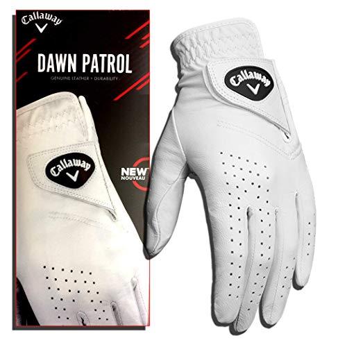 Callaway Damen Golf Dawn Patrol Linkshänder Handschuhe, Mittlere, Weiß