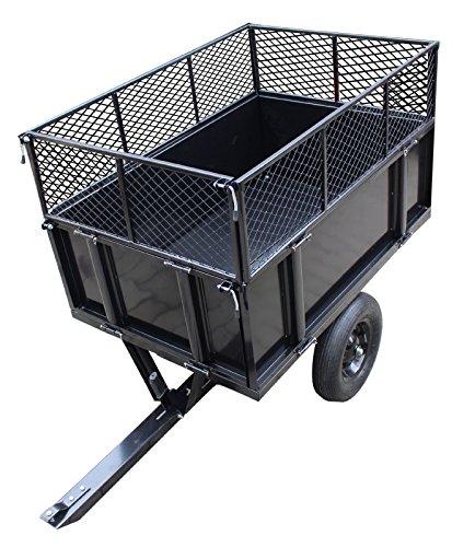 TRUTZHOLM® Anhänger Rasentraktor 300 kg kippbar Aufsitzmäher Hänger Traktor Kippanhänger ATV Quad