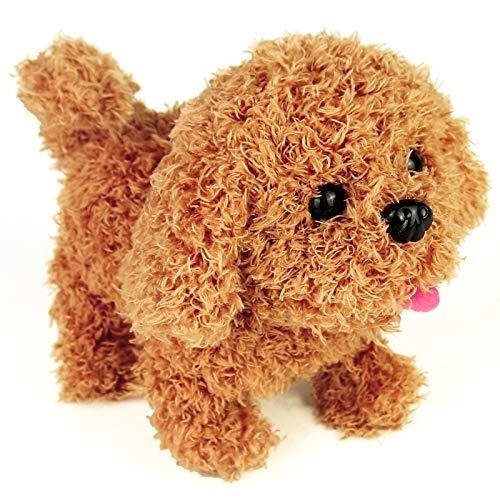 jerryvon Spielzeug Hund Kinder Interaktiv Elektronisch Haustier Spielzeughund mit Bellen, Gehen, Schwanzwedeln & Berührungssensoren für Kinder 3 4 5 6 Jahren