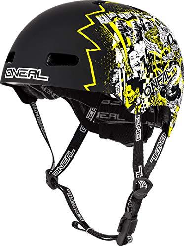 O'NEAL | Mountainbike-Helm | Enduro All-Mountain | Lüftungsöffnungen zur Belüftung & Kühlung, Größenverstellsystem, Zone Flex-Technologie| Helmet Dirt Lid ZF Rift | Erwachsene | Neon-Gelb | Größe M/L
