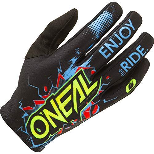 O'NEAL | Fahrrad- & Motocross-Handschuhe | Kinder | MX MTB DH FR Downhill Freeride | Langlebige, Flexible Materialien, belüftete Handoberseite | Matrix Youth Glove Villain | Schwarz | Größe M