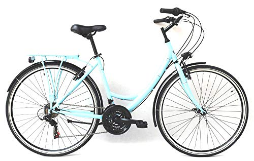 28 Zoll Damen City Fahrrad CITYFAHRRAD DAMENFAHRRAD CITYRAD DAMENRAD Citybike Rad Bike Beleuchtung Shimano 6 Gang Balmoral Lady BLAU