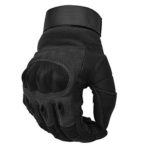 COTOP Motorrad Handschuhe, Touch Screen Hard Knuckle Handschuhe Motorrad Handschuhe Motorrad ATV Reiten Full Fing, 6 Monate Kostenloser Ersatz für Qualitätsprobleme(L)