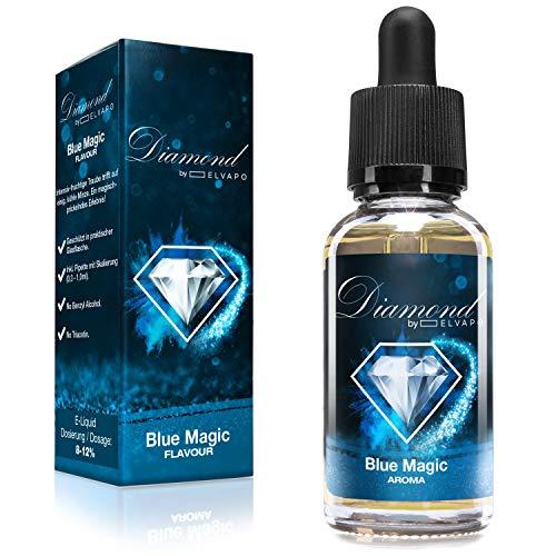 Diamond Aroma für E-Liquids   Blue Magic (NEUE REZREPTUR!)  30ml   Aromakonzentrat zum Mischen mit Basen   Für E-Zigaretten und E-Shishas   Ohne Nikotin 0,0mg   Made in Germany! Vape Liquid Aroma