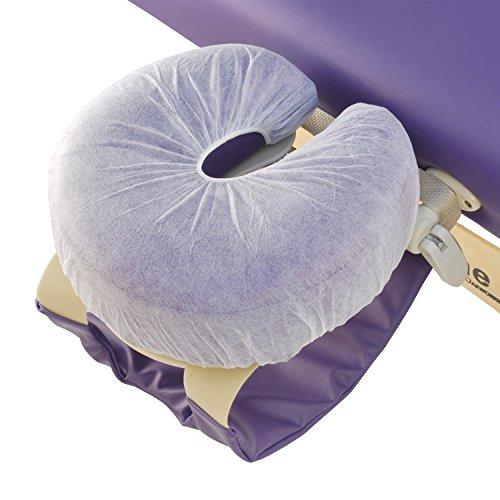 Einweg-Kopfstützenbezug (100 Stück) in Hörnchenform, mit Rundum-Gummizug, Hygiene-Bezug für Kopfstütze der Massageliege