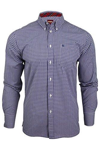 Merc of London Herren Businesshemd, Gr. Large (Herstellergröße: L), Blau (royale Blue)