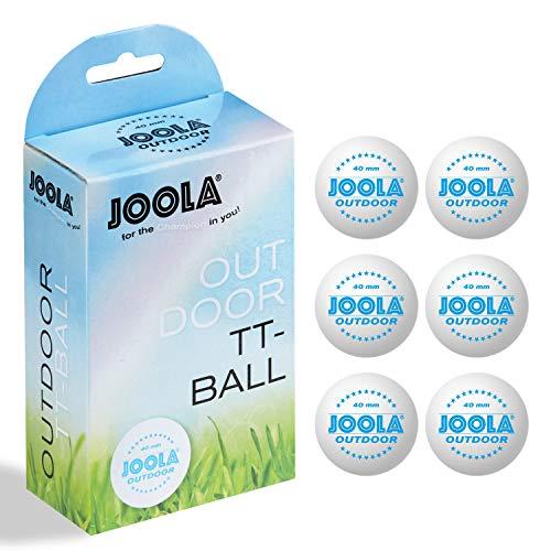 JOOLA Tischtennisbälle TT Outdoor Selektierte 40+mm Tischtennis-Trainings-Bälle Weiss, 40 mm