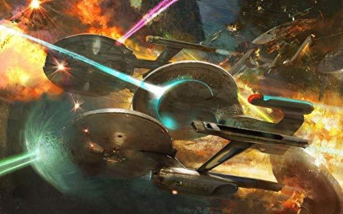 72Tdfc - Malen Nach Zahlen Set Für Erwachsene - Star Trek Filmplakat - Kinder Anfänger Selber Auf Leinwand Malen Nach Zahlen Zur Heimdekoration 40 X 50 Cm