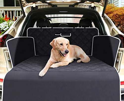 pecute Kofferraumschutz für Hund Kofferraumdecke Hundedecke Auto mit Reißfeste Wasserdichter abwaschbar, Seitenschutz Schützt den Kofferraum und die Stoßstange vor Schmutz, Kratzern und Haaren(Groß)