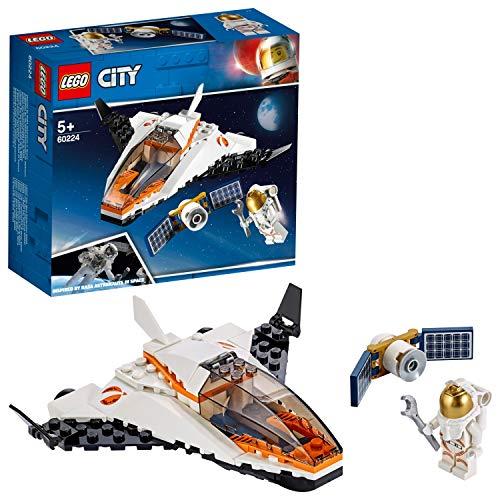 LEGO 60224 City Satelliten-Wartungsmission, Spielzeug-Raumschiff inspiriert von der NASA, Expedition zum Mars Serie