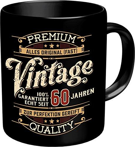 RAHMENLOS Original Kaffeebecher zum 60. Geburtstag: Vintage 60 - Im Geschenkkarton 2634