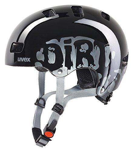 Uvex Unisex Jugend, kid 3 Fahrradhelm, dirtbike black, 51-55 cm