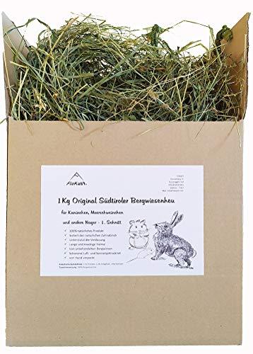 Floka69® Heu 1kg für Kaninchen Meerschweinchen Hamster und andere Nager I Wiesenheu I Bergwiesenheu für Kleintiere