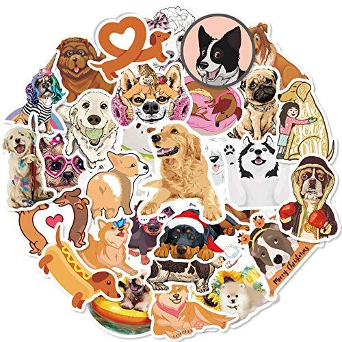 SJUNJIE 80 Stück Kawaii Vinyl Aufkleber Hunde Graffiti Sticker Niedliche Hundeaufkleber für DIY Dekoration Scrapbooking Tagebuch Fotoalbum Kalender Notizbuch Hand Konto