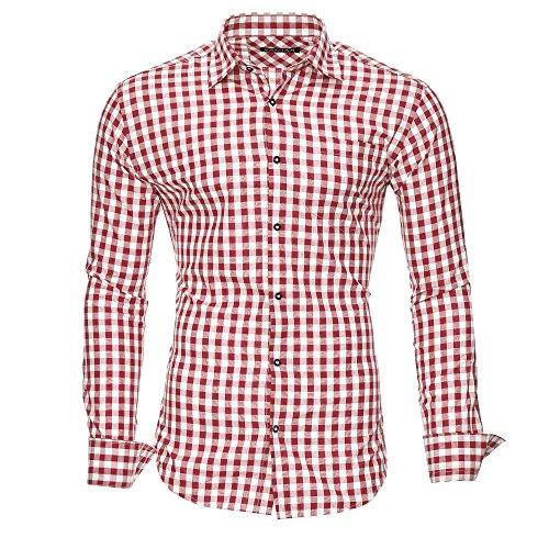 Kayhan Herren Hemd, Oktoberfest Rot M