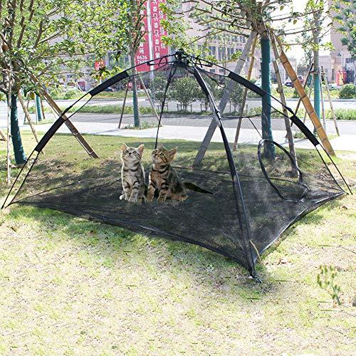 HI SUYI Pet Comfort PE-Zelt für Katzen, Tragbare große Pop-Up-Haustier Zelt-Einschließungen draußen Lebensraum Hunde Accessoire katzenzelt Outdoor hundetippi Katzenhöhle