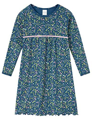 Schiesser Mädchen 1/1 Nachthemd, Blau (Dunkelblau 803), 98