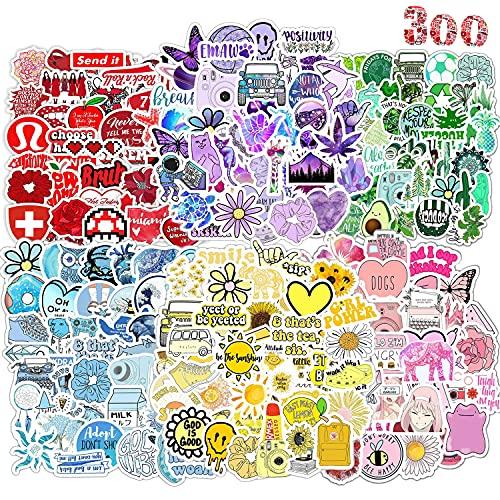 AIRNOGO Aufkleber 300 Stück Vinyl Aufkleber süß Girl Wasserdicht Stickers Trendy Sticker Einzigartige Coole Aufkleber für Fahrrad Skateboard Snowboard Gepäck Laptop Aufkleber MacBook iPad Mehr