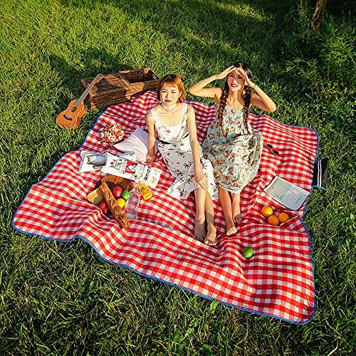 SKYSPER Picknickdecke Wasserdicht 200x200CM Stranddecke isolierte Picknickmatte Ultraleicht Sandfrei Campingdecke Outdoor Decke Weich Tragbar für Outdoor Reisen und Camping